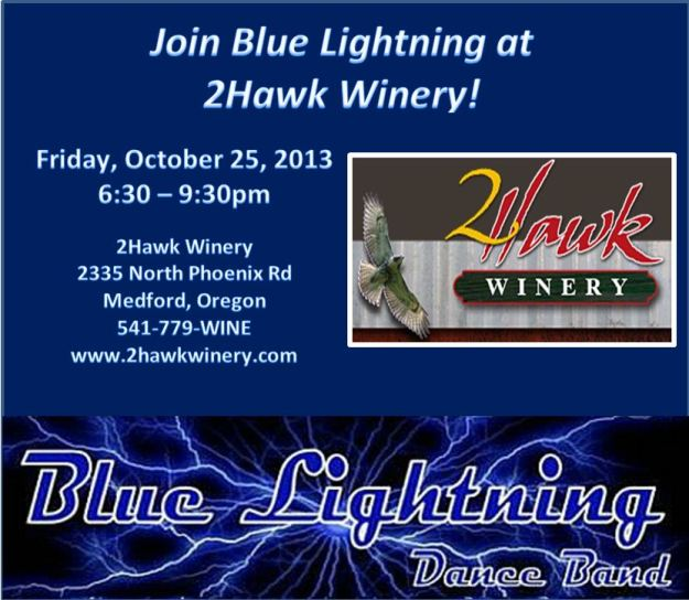 Blue Lightning at 2Hawk Winery!