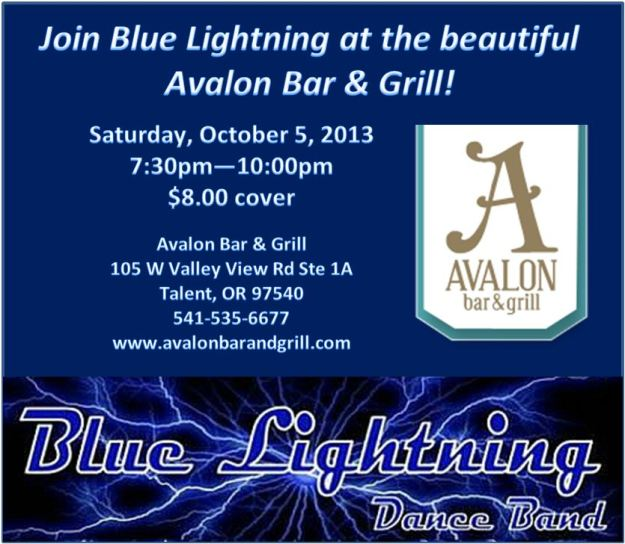 Blue Lightning at the Avalon 10-5-13!