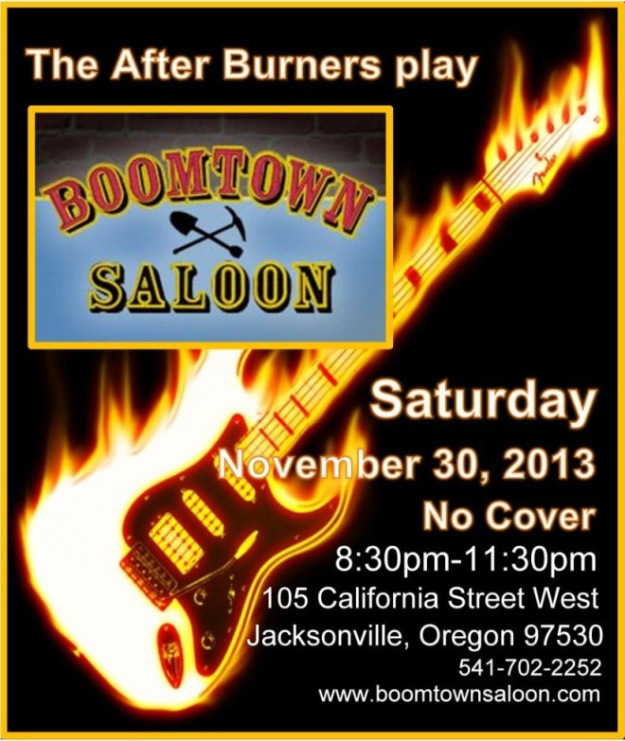 After Burners at Boomtown Saloon November 30th!