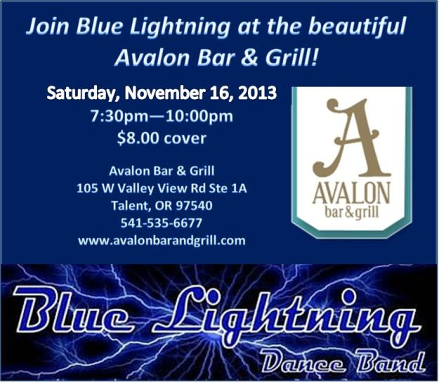 Blue Lightning at the Avalon November 16th!