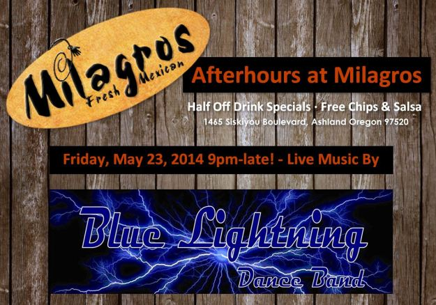 Blue Lightning at Milagros, Ashland